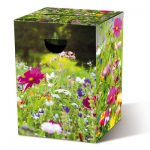 Motivpapphocker Blumenwiese für die Sitzfläche für sommerliche Veranstaltungen