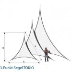 Stretchsegel Tokio Maße Skize