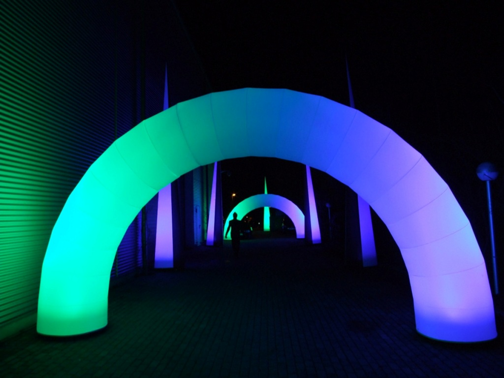 LED Leuchtobjekt Gate Eventeingang
