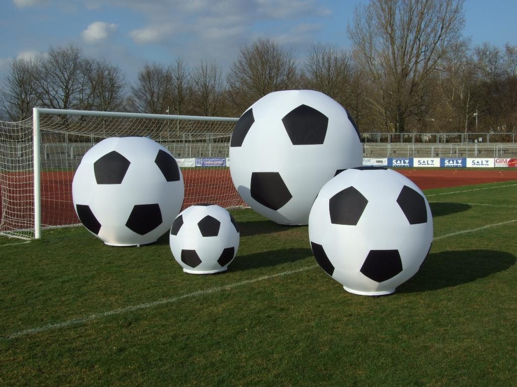 Dekoration für Fußballveranstaltung