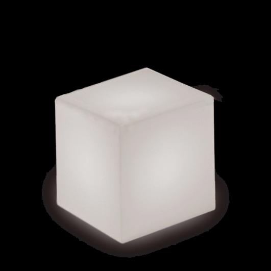 Sitzcube mit weißer Beleuchtung optional mit farbigen RGB LED Akku möglich