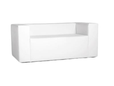 Lounge Sofa/Couch passend zur Clubzone Serie Vermietung B1 Kunstleder weiss
