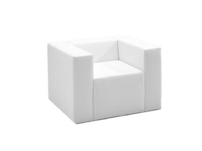 Lounge onseat Armchair Sessel passend zur Clubzone Serie Vermietung B1 Kunstleder weiss