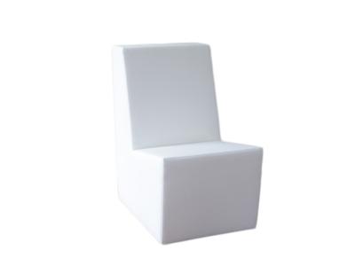 Lounge ohne Armlene -1Sitzer /Couchecke passend zur Clubzone Serie Vermietung B1 Kunstleder weiss