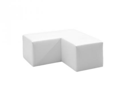 Lounge Sitzbank Corner passend zur Clubzone Serie Vermietung B1 Kunstleder weiss