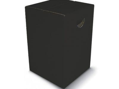 Papphocker Schwarz Sitzhocker SCHWARZ mit Tragemulde aus Pappe bright color Lagerware Bestuhlung für Veranstaltungen Schulen Kirchen Messe Konrgresse tragbare Sitzgelegenheit zusammenfaltbar