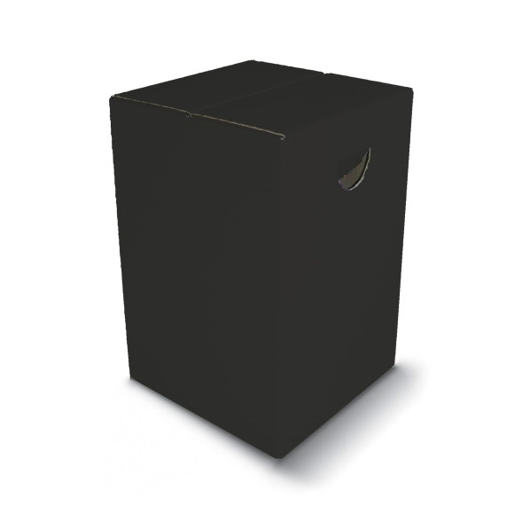 Sitzhocker SCHWARZ mit Tragemulde aus Pappe