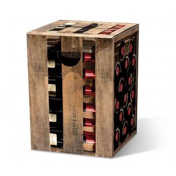 Motivpapphocker Edelzwicker für Sitzfläche Weinhandel und Verköstungen als Beistelltisch Bestuhlung für Vortrag auf Kongress Messe tragbare Sitzpapphocker
