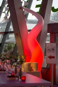 SWIRL aufblasbare Eventdekoration in der VERMIETUNG mit LED Beleuchtung