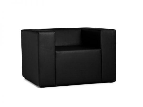 Lounge onseat Armchair Sessel passend zur Clubzone Serie Vermietung B1 Kunstleder schwarz Vermietung