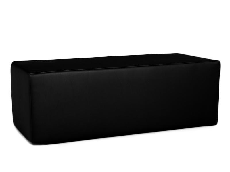 Sitzbank Clubzone schwarz mit bequemer Posterung - B1