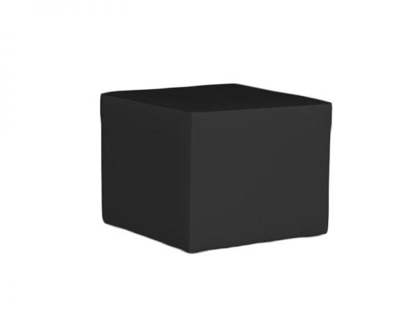 Sitzwürfel Clubzone schwarz mit bequemer Posterung - B1