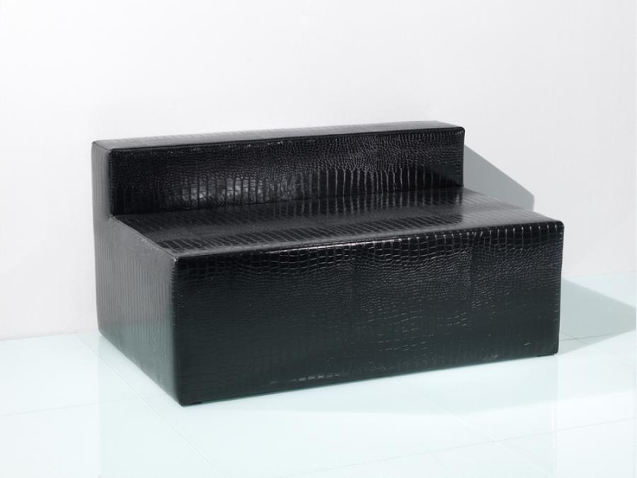 Sofa Nightlife schwarz mit bequemer Posterung - B1