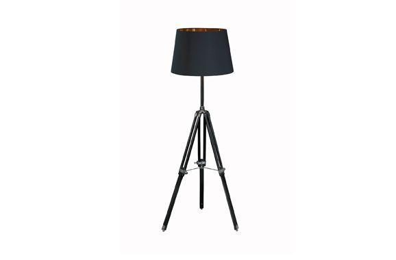 Stehlampe Höhenverstellbar Negrid , schwarz, Vermietung passend zur Serie Negrid