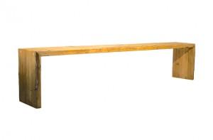 Rustikale Outdoorlounge Sitzbank aus Holz ohne Sitzpolster,Bierbank, robust, Vermietung