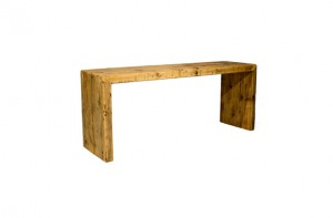 Rustikale Outdoorlounge kleine Sitzbank aus Holz ohne Sitzpolster,Bierbank, robust, Vermietung