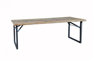 Rustikale Outdoorlounge Tisch Buffettisch aus Gerüstbohlen Holz, robust, Vermietung