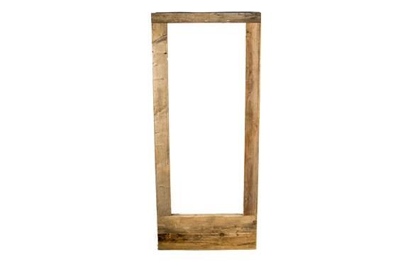 Rustikale Kühlschrankverkleidung aus Holz,natur, Vermietung