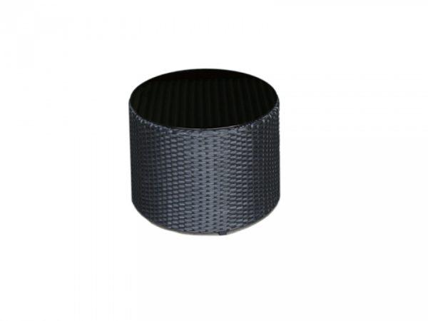 Outdoor Rattanmöbel FLOW Beistelltsich schwarz -Blacklounge für den Außenbereich