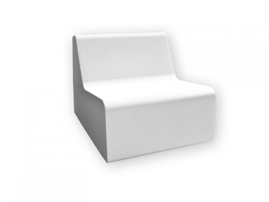 weiße Outdoorlounge Sessel Middle aus PU Schaum, robust leicht zu reinigen, Vermietung