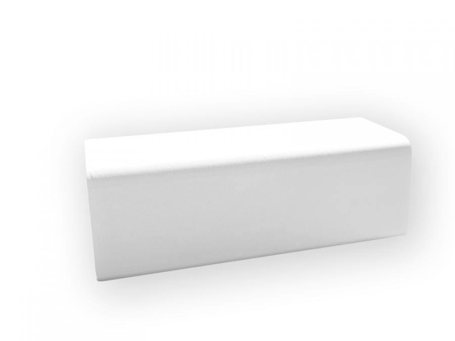 weiße Outdoorlounge Sitzbank Bench aus PU Schaum, robust leicht zu reinigen, Vermietung