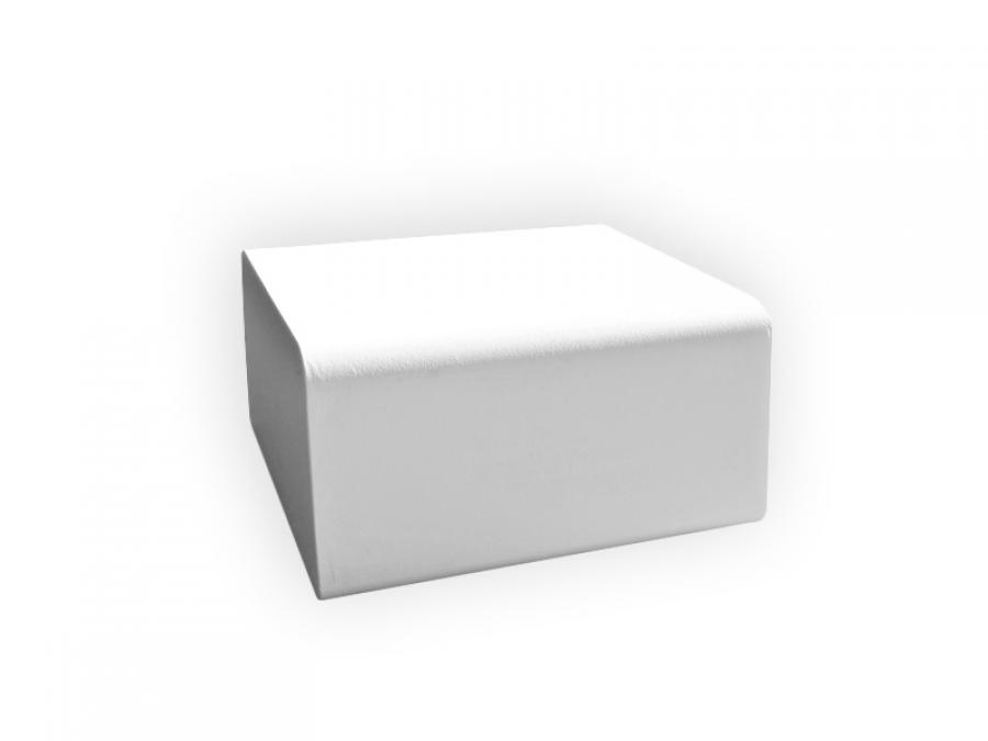 weiße Outdoorlounge Sitzwürfel BIGCube aus PU Schaum, robust leicht zu reinigen, Vermietung