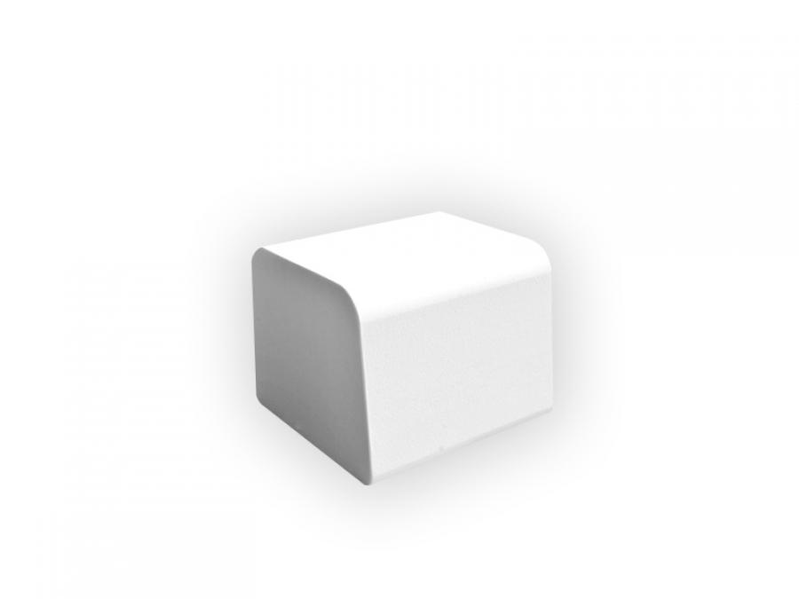 weiße Outdoorlounge Sitzwürfel Cube aus PU Schaum, robust leicht zu reinigen, Vermietung