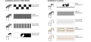 Patide Eventtischdecke Papiertischdecke für Festzelttisch mit Motiven schwarz weiss Maße: 220 x 50 cm (Lx B)