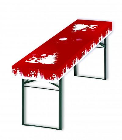 Patide Papiertischdecke für Festzelttisch mit Motiv Tannenbaum mit Elch für Weihnachtsfeier Maße: 220 x 50 cm (Lx B)