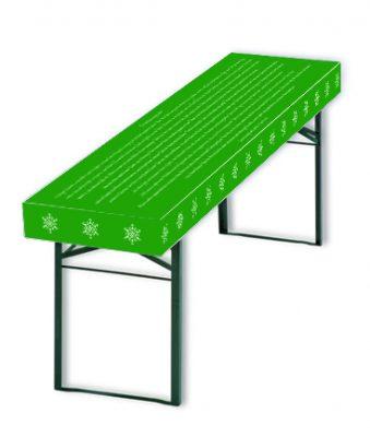 Patide Papiertischdecke für Festzelttisch mit grünen Motiv -Weihnachtsgeschichte- für Weihnachtsfeier Maße: 220 x 50 cm (Lx B)