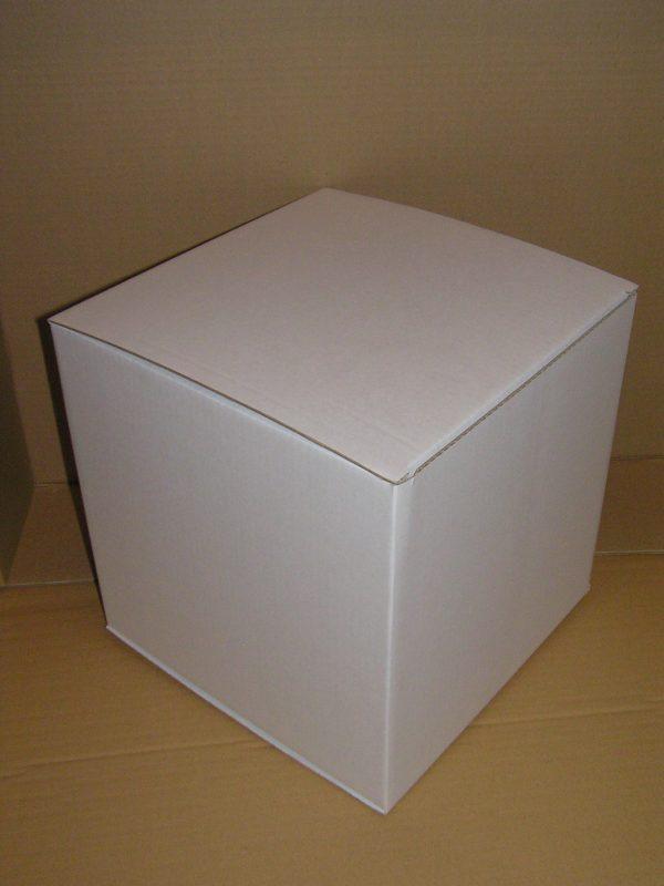 MiniPapphocker weiss bedruckbar, Würfelpuzzle, Würfelwand bei Teambuliding , Catering Buffeterhoehung Maße: 34 x 34 x 34cm (LxBxH)