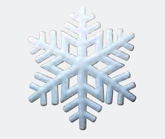 Aufblasbare hängender Schneeflocke für Weihnachtsmärkte oder Weihnachtsfeier: P-STAR zum stellen oder hängen - Vermietung und Verkauf möglich ADS