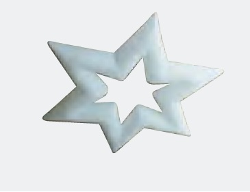 Aufblasbarer hängender Sterne für Weihnachtsmärkte oder Weihnachtsfeier: P-STAR zum stellen oder hängen - Vermietung und Verkauf möglich