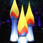 Aufblasbare Fackel Lichterfeste: airfire zum stellen oder hängen - Vermietung und Verkauf möglich