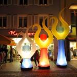 Aufblasbare Harfe für Lichterfeste, Outdoorevents AIRFLIPP zum stellen oder hängen - Vermietung und Verkauf möglich