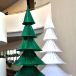 Weihnachtsdekoration nicht nadelden Tannenbaum aus Stretchstoff, schwer entflammbar DIN 4102B1