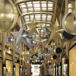 Eventdekoration zur Weihnachtsfeier easy star2d und planet aus Stretchstoff
