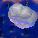 Aufblasbare hängende Wolke Himmelskörper, X-mas: CLOUD- Vermietung und Verkauf möglich