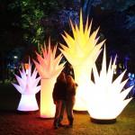 Aufblasbare Eiszapfen für Lichterfeste, Outdoorevents : airSPIKE zum stellen oder hängen - Vermietung und Verkauf möglich