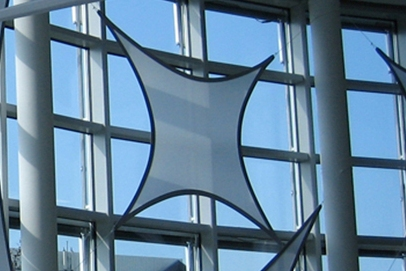 Projektionsfläche aus Stretchgewebe Polyamid, Elastan - 4Punkt-Stretchsegel PARIS- Indoor