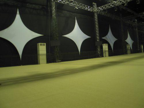 Projektionsfläche aus Stretchgewebe Polyamid, Elastan - 4Punkt-Stretchsegel PAPRIS- Indoor