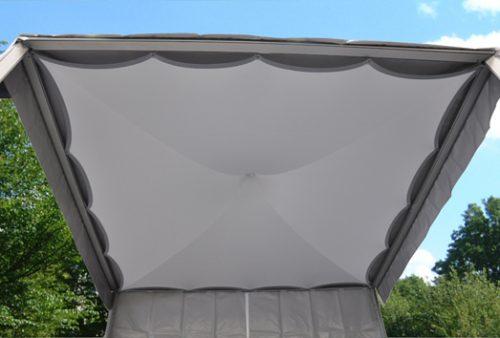 Zelthimmel aus Stretchgewebe Polyamid, Elastan - 4Eck und 6Eck Pagoden SKY- Indoor