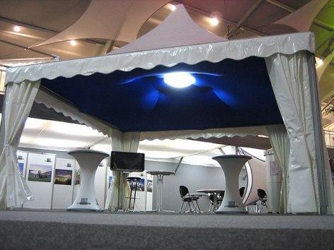 farbige Zelthimmel aus Stretchgewebe Polyamid, Elastan - 4Eck und 6Eck Pagoden SKY- Indoor