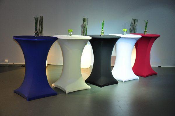 Stehtischhusse aus Stretchsstoff OHNE Reisverschluß - 6 Farben-Verkauf möglich