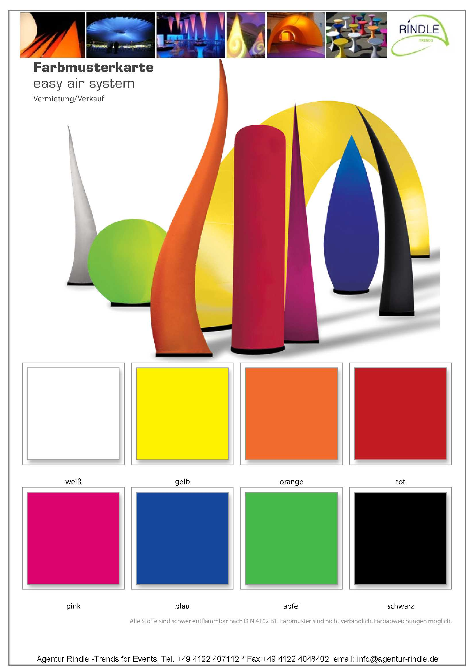 Inflatables Sculptures LED CONE - Agentur Rindle - Trends for Events