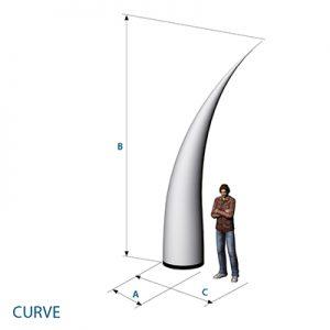 Aufblasbares Curve für Bühne oder Eingangsbereiche zum stellen oder hängen- Vermietung und Verkauf möglich