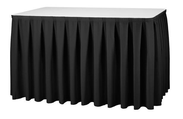 Tischhusse elegant Catering Buffettisch Stoff Ueberzug Kellerfalte DEN