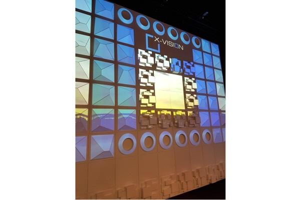Eventdekoration Projektionsfläche für Diskotheken und gestaltung von Wänden: Design MARBLE, PYRAMIDE, T-ROCK Alternative Düne