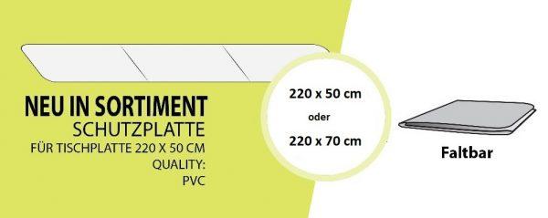 Schutzplatte für Ihre Festzeltgarnitur-Husse, schützt vor Flecken und Abnutzung, abwischbar, einfach auf den Biertisch legen