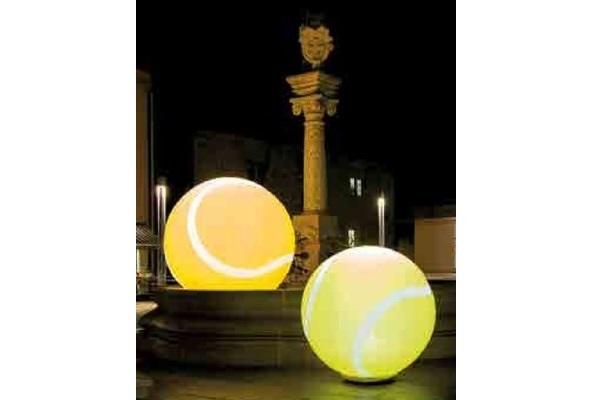 easy GLOBE TENNIS -Tennisdekoration Agentur Rindle Inflatables Globe Gebläse LEDBeleuchtung Bodendekoration Leuchtkugeln outdoor easy airsystem (c) hms